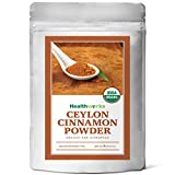 Healthworks Cinnamon Powder Ceylon Raw Organic, 8 Ounce