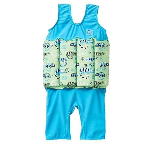 Lycra Float Suit - Splash About Short John Float Suit, Green Gecko, 4-6 Years