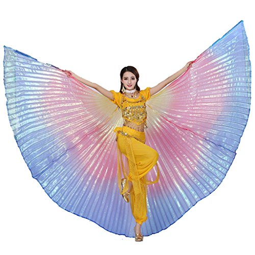 Pilot-trade Women's Egyptian Egypt New Belly Dance Costume Colorful Isis Wings (One Size, Rainbow)