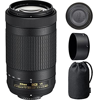 Nikon 70-300mm f/4.5-6.3G VR DX AF-P ED Zoom-Nikkor Lens - (Certified Refurbished) from Nikon