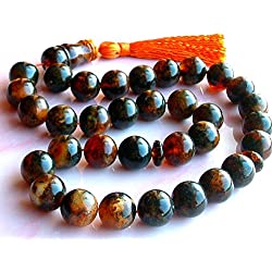 Baltic Amber 33 Islamic Prayer Beads Misbaha Tasbih / Prayer Beads Necklace Bracelet / Round Balls Beads