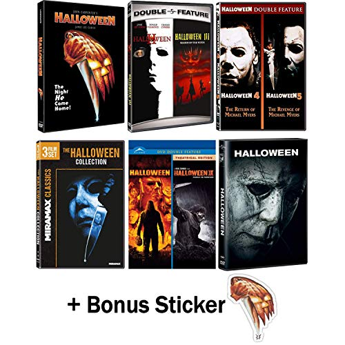 (Halloween: Complete Original + Rob Zombie Remake Movie Series DVD Collection with Bonus)
