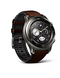 Huawei Watch 2 Classic – Titanium Grey with Brown Hybrid Strap - Android Wear 2.0 (US Warranty)