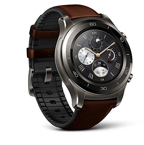 Huawei Watch 2 Classic Smartwatch - Ceramic Bezel- Brown Leather Strap(US Warranty) (Best Small Tablets Of 2019)