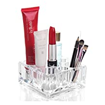 Acrylic Makeup Organizer Lipsticks Brush Holder with 9 Slots Choice Fun Small