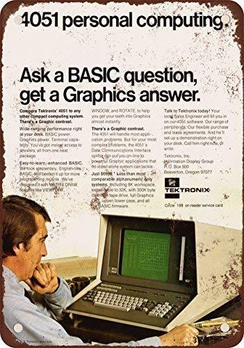 STY 1976 Tektronix Basic de gráficos aspecto clásico reproducció tin Sign 20 30cm/ 7.8 11.8 inch(L W) ()