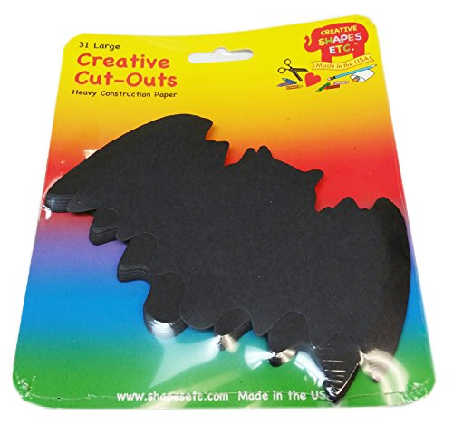 Bat Large Single Color Creative Cut-Outs, 5.5