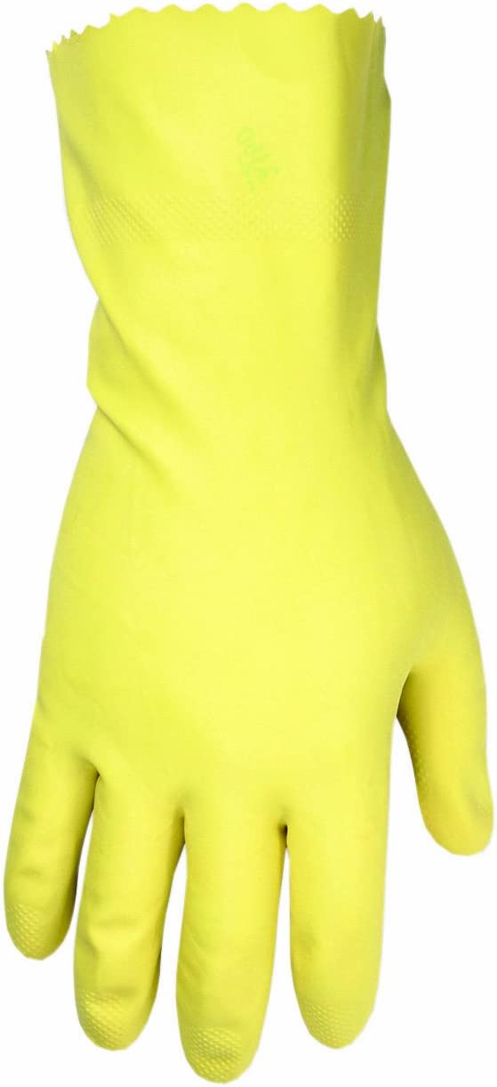 CLC Custom Leathercraft 2300S Yellow Household Latex Cleaning Gloves, Small