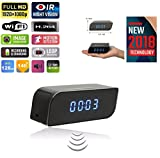 Hidden Spy WiFi Camera Alarm Clock Mini Night Vision IR Secret Home Security Nanny Cam IP Wireless cam HD 1080P Baby Monitor Audio Video Recorder IP 128GB Motion Detection 140°Wide Angle Lens TMCUS
