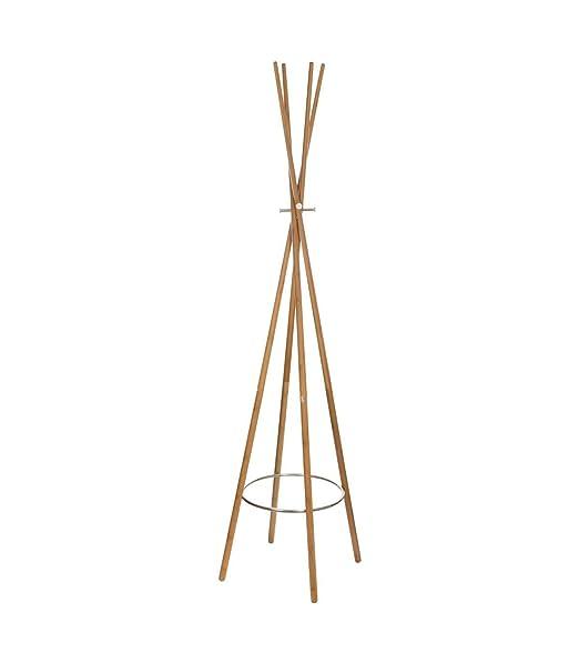 Perchero de pared de bambú stand- Forma Tipi- Color MADERA ...
