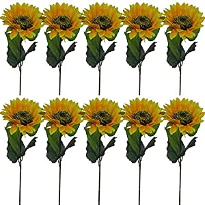 "Lily Garden 24"" Silk Sunflowers Artificial Flowers Decor (10) 63"