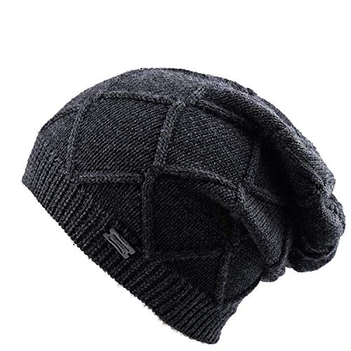 Winter Knit Hats For Women- Cashmere And Merino Wool Slouchy Beanie Skull Hat Caps FURTALK Designed - Knit Wool Hat