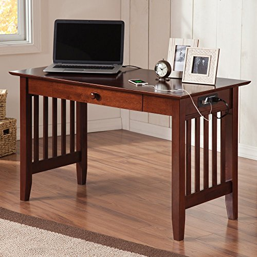 Atlantic Furniture Ralston Desk With Drawer And Charging Station