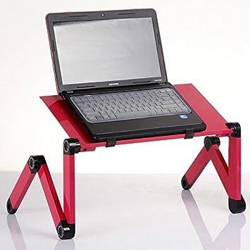kevenanna ajustable con ventilación atril para libro de mesa para portátil portátil escritorio para ordenador Bandeja de Cama Multifuctional y ergonomía ...