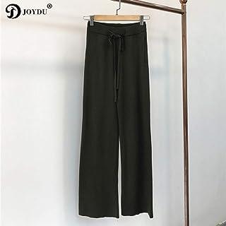 AKDYH Pantaloni da Donna Pantaloni da Donna A Vita Alta in Maglia A Maglia Larga da Donna Autunno Inverno