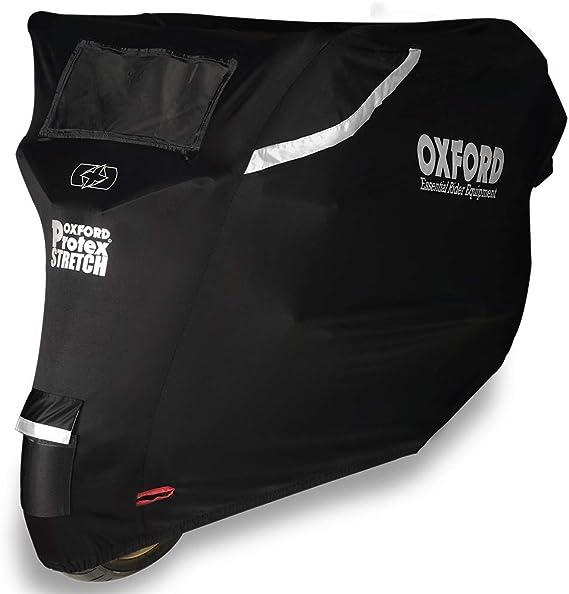 Oxford Cv161 Protex Stretch Passform Premium Stretch Passform Outdoor Motorrad Abdeckung Schwarz Medium Oxford Auto