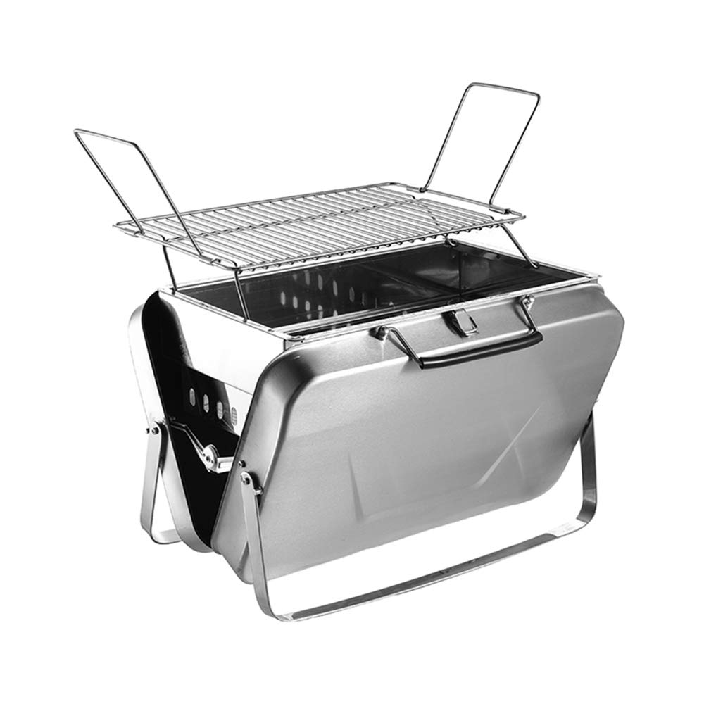 Portable Tabletop Charcoal Grill Suitcase Box Folding Steel Barbecue Grill for Outdoor Use DALANG INC.