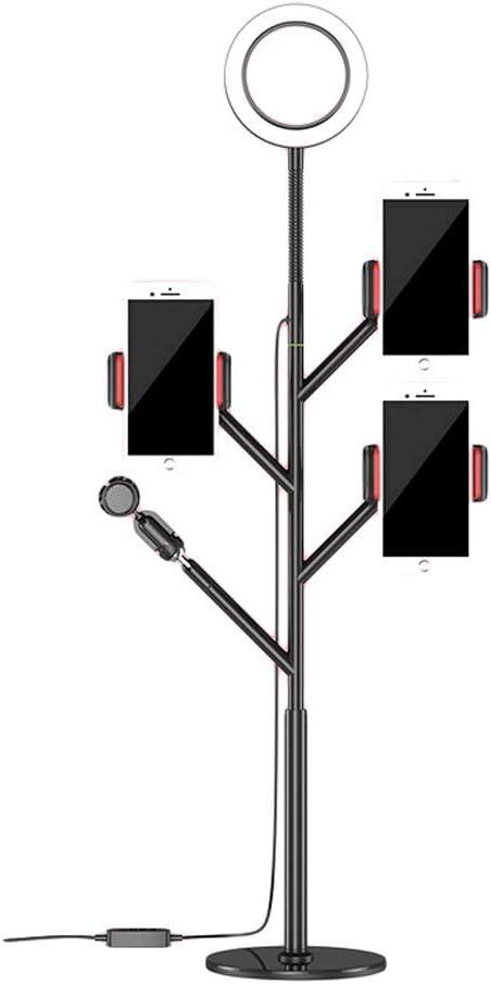 Color : Black, Size : Big+Desktop+Storage Fill Light Multi-Camera Multi-Platform Mobile Phone Broadcast Stand Desktop Landing Heightening and Long Tripod Photo Fill Light LCSHAN