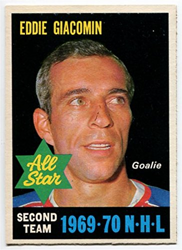 OPC 1970/71 Eddie Giacomin All Star Card #244 New York Rangers Great Condition