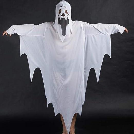 SHOPZZ Disfraz De Halloween Fantasma Blanco Vestido Andrajoso ...