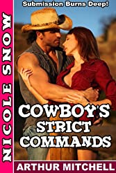 Cowboy's Strict Commands: Submission Burns Deep! (Doms Next Door Book 2) (English Edition)
