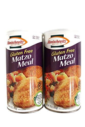 Manischewitz Gluten Free Matzo Meal Canister, 15 Oz Tubes, 2 Pack