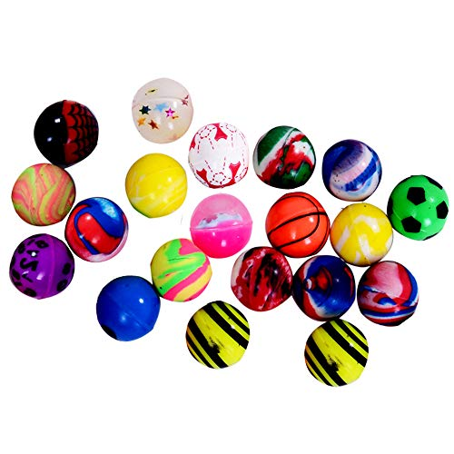 Onepine 20PCS Bouncy Balls Assorted Rubber Balls,Party Bag Filler,High Bouncing Balls for Kids