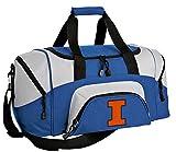SMALL University of Illinois Travel Bag Illini Gym Workout Bag