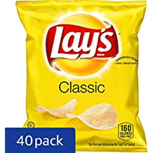 Lay's Classic Potato Chips, 1 Ounce (Pack of 40)