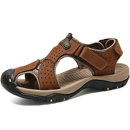Pantofole Uomo Outdoor Size Estate 38 47 Yra Sandali Da Trekking Chiuso Brown Da Sneakers Traspirante Regolabile Plus punta Spiaggia Scarpe Indossabili Casual n0UwdIHxIq