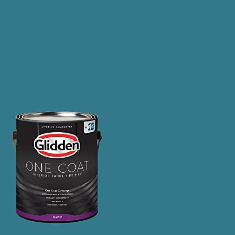 Glidden Interior Paint + Primer Teal/Aqua Interior Paint /Adventure One Coat Eggshell 1 Gallon Amazon.com Home Improvement : best interior paint primer - zebratimes.com