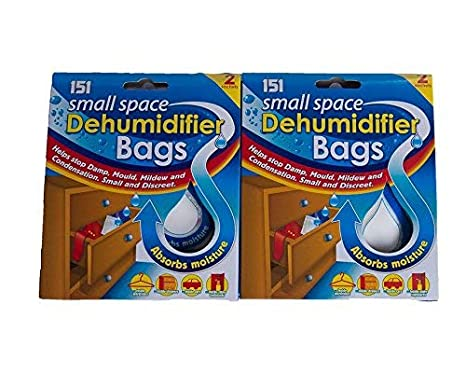 4 Small Space Dehumidifier Bags/2 Packs of 2 151