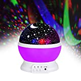 Jayden78 Toys for 2-10 Year Old Girls, Night Light Rotating Moon Stars Projector for Kids Toys for...