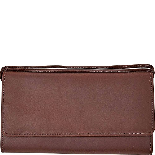 ClaireChase Tri-fold Crossbody Wallet (Antique Brown)