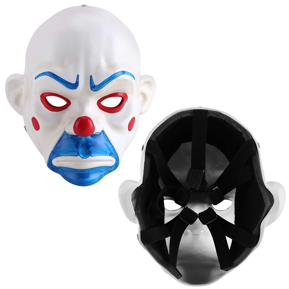 FTVOGUE Halloween Joker Dark Knight Cosplay m/áscara Joker Bank Robber Mask Halloween Costume Resin Party Festival