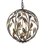 eb ga - Crystorama 504-EB-GA Leaf, Flower, Fruit Four Light Chandeliers from Broche collection in Bronze/Darkfinish,