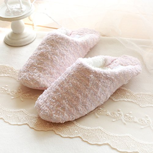 Rosa Velluto Singole Colore Ragazze Donne Stile Casa Pantofola Jds Confortevole Piuma Di Bella Solidi Fortunings Scarpe X8nfxZE