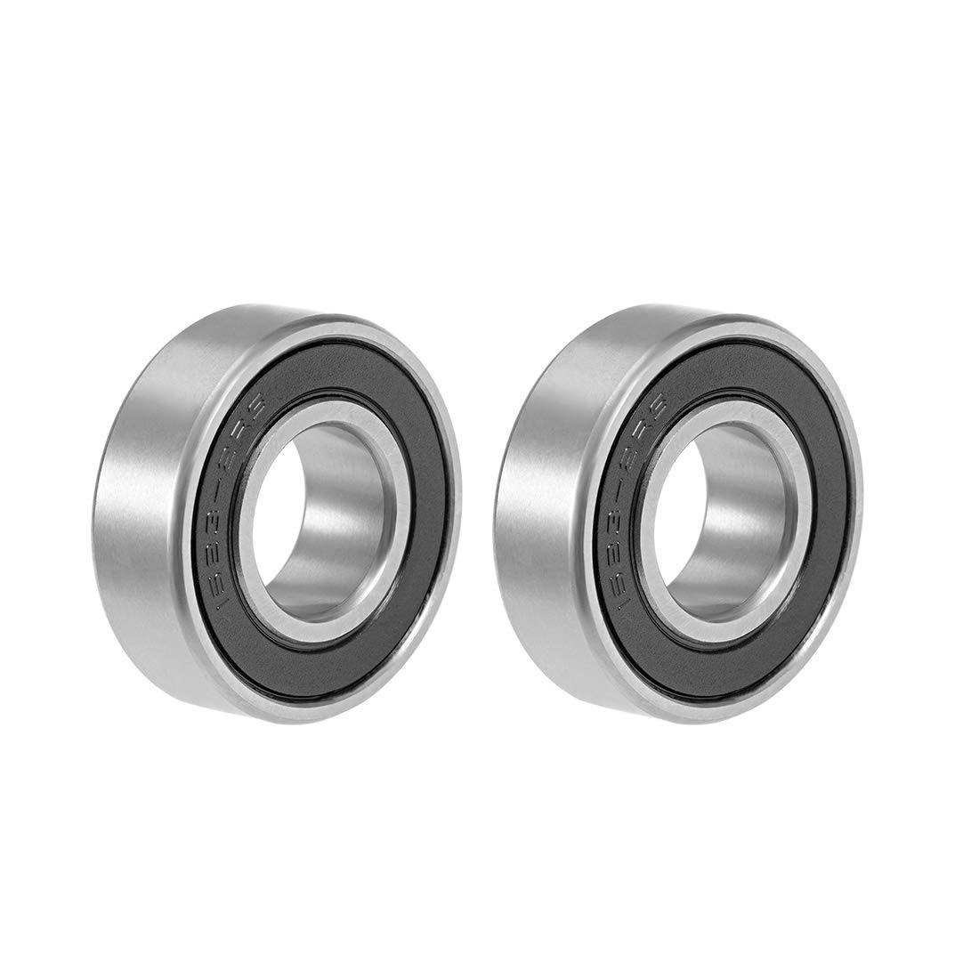uxcell® 1623-2RS Deep Groove Ball Bearing 5/8'x1-3/8'x7/16' Double Sealed Chrome Bearings 2-Pack