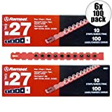 Ramset 5RS27 10 Strips of 10 (200 total) #5 ''Red'' 27 cal Strip Loads 2-Pack