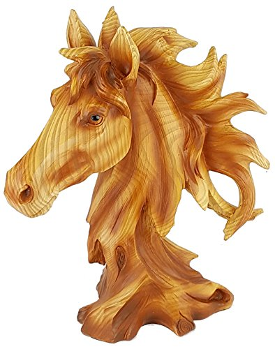 Yankee Forge Carved Wood Look HORSE HEAD BUST Resin Sculpture/Statue PDJ934 -