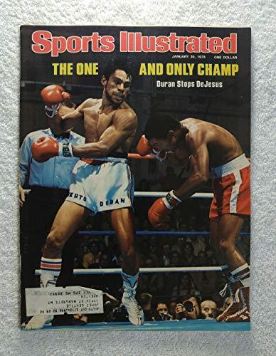 Roberto Duran defeats Esteban DeJesus - Sports Illustrated - January 30, 1978 - Boxing - - 1978 Cover Sports Illustrated