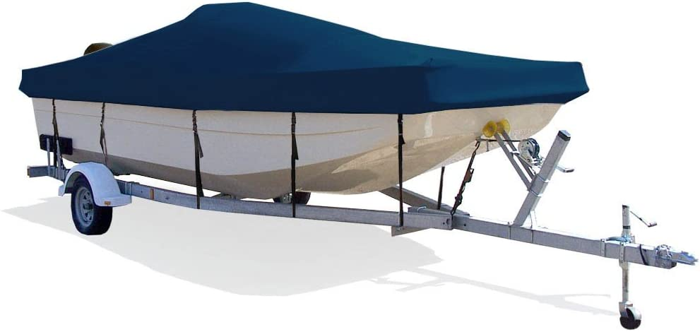 TAYLOR MADE PRODUCTS Trailerite Semi-Custom Boat Cover for Center Console Bay Style Boat with Outboard Motor