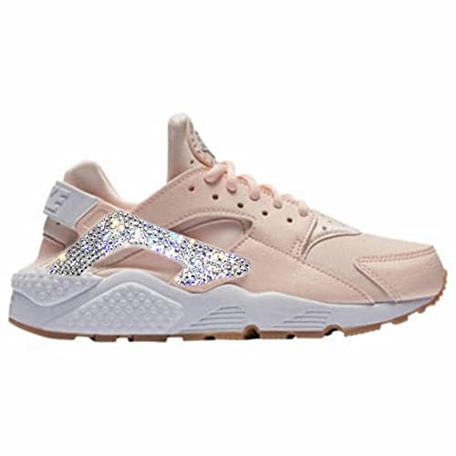 free shipping 4ecc0 ef485 Amazon.com  Huaraches women shoes, Bling Nike shoes, Bling Nike for women,  Bling Nike Sneakers, Nike Air Huarache, Gifts for women  Handmade