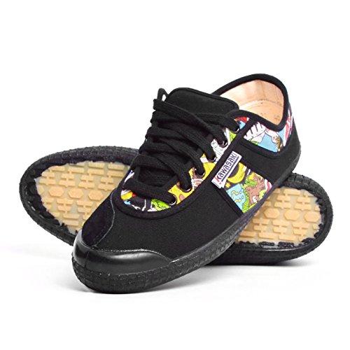 Kawasaki scarpe uomo 60701 nero fumetto tela (EU 44)