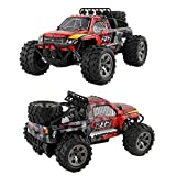 RC Cars for Kids Adults High Speed Rock Crawler 2WD Rechargeable Remote Radio Control 1:18 Scale Off Road Car (Red)