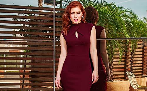 Women's Business Slim Style Ruffle Work Pencil Dress