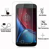 Mica Cristal Motorola Moto G4 Plus protector de pantalla Lector Huella, 2.5D Edge 9H Vidrio Templado Protector de Pantalla de Cristal Templado Para Motorola Moto G4 Plus Smartphone