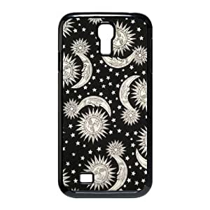 T-TGL(RQ) Customized Sun Moon Pattern Pattern Protective Cover Case for Samsung Galaxy S4 I9500