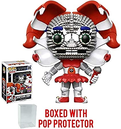 Amazon Com Funko Pop Games Five Nights At Freddy S Sister Location Jumpscare Baby 2017 Summer Con Exclusive Vinyl Figure Bundled With Pop Box Protector Case Toys Games