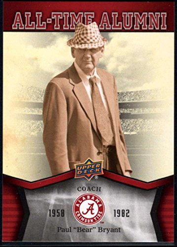 Football NFL 2012 Upper Deck University of Alabama All Time Alumni #ATAPB Paul Bear Bryant